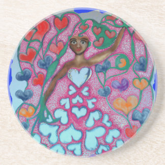 Flora in the Garden with Love Drink Coasters