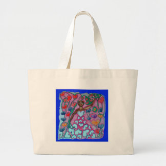 Flora in the Garden with Love Jumbo Tote Bag