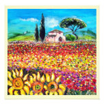 FLORA IN TUSCANY/ Fields ,Poppies and Sunflowers Personalized Announcements