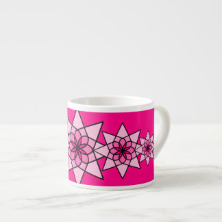 Flora Pink Geometric Flower Coffee Cup