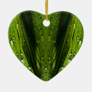 Flora Reflections in water Ceramic Heart Decoration