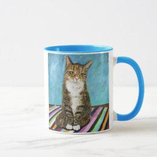 Flora the cat mug