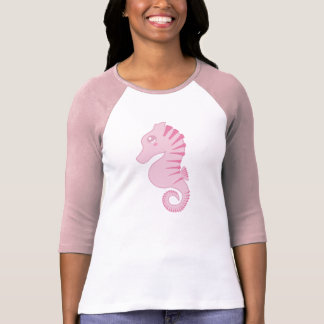 Flora the Pink Seahorse 3/4 Sleeve Top T-shirts