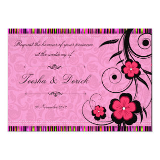Flora wedding invitation card by Kanjiz