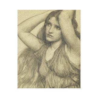 Flora with Long Hair Canvas Print