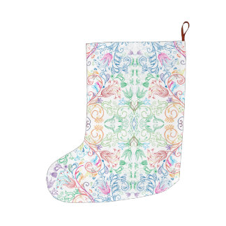 Floradore - White Large Christmas Stocking