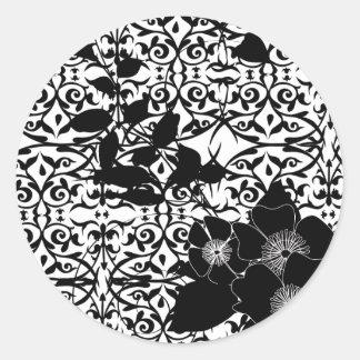 floral2 round sticker
