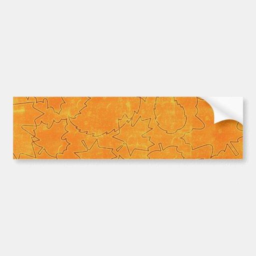 floral71-orange FLORAL ORANGES STRING ABSTRACT RAN Bumper Sticker