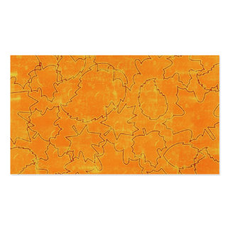 floral71-orange FLORAL ORANGES STRING ABSTRACT RAN Business Card Template