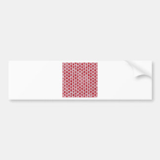 floral72-red FLORAL RED WHITE PATTERN TEMPLATE TEX Bumper Sticker
