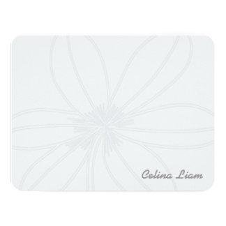 floral 11 cm x 14 cm invitation card