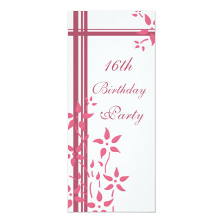 Floral 16th Birthday Party Invitations