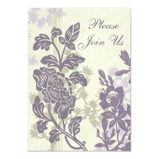 Floral 25th Anniversary Party Invitation Card