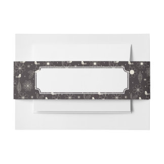 Floral 2 invitation belly band