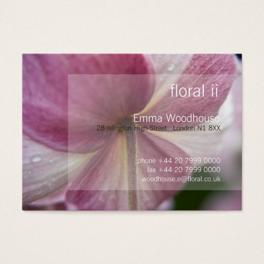 Floral 2 - Japanese Anemone Business Card
