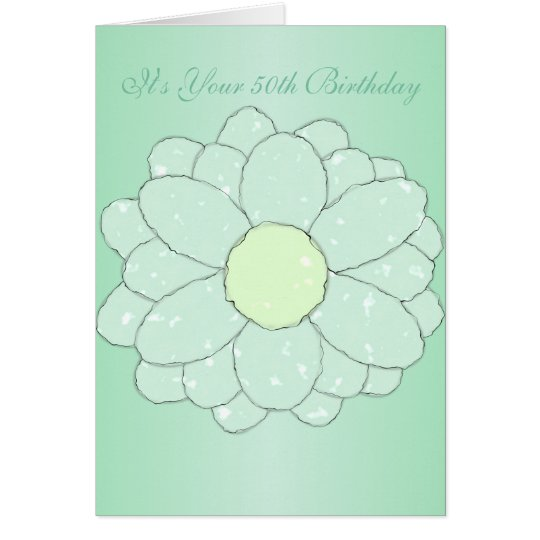 Floral 50th Birthday Card