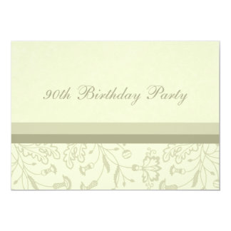 Floral 90th Birthday Party Invitations