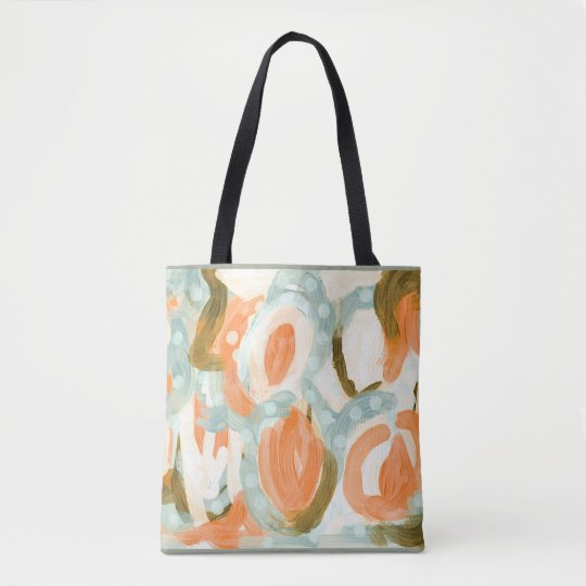 Floral abstract art tote for summer