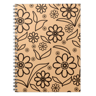 Floral abstract background note books