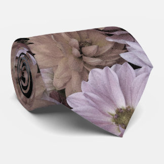 Floral Abstract Dahlia Garden Flowers Tie