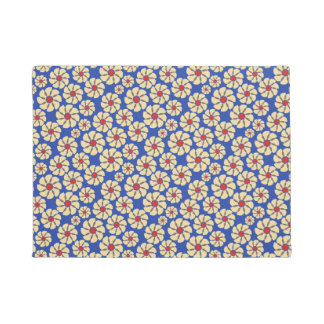 Floral abstract design doormat