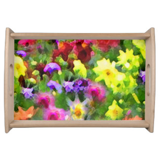 Floral Abstract Impressions Serving Tray