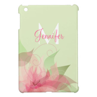 Floral Abstract Monogram iPad Mini Cover For The iPad Mini
