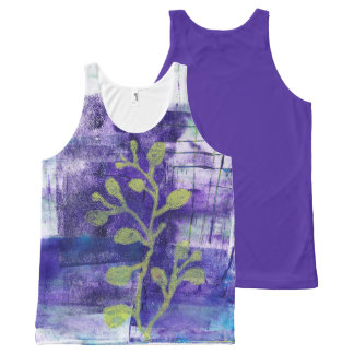 Floral Abstract Monoprint 1711301 Tank