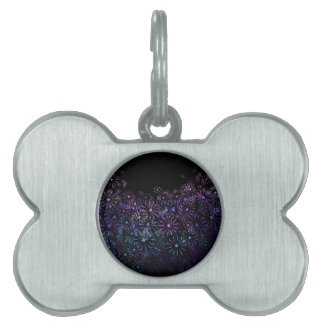 Floral abstract. pet name tag