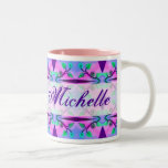 Floral Abstract template Two-Tone Mug