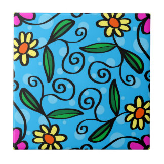 Floral Abstract Tile
