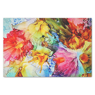 Floral Abstract Tissue Paper