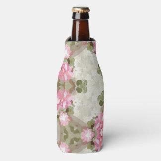 Floral Abstract Vintage Inspired Botanical Pattern Bottle Cooler