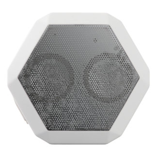 Floral abstract. white bluetooth speaker