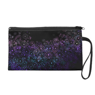 Floral abstract. wristlet