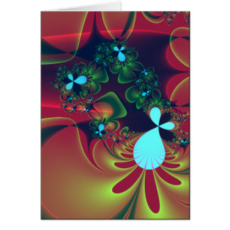 floral abstraction cards