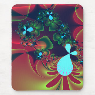 floral abstraction mouse mat