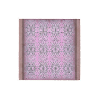 Floral abstraction stone magnet