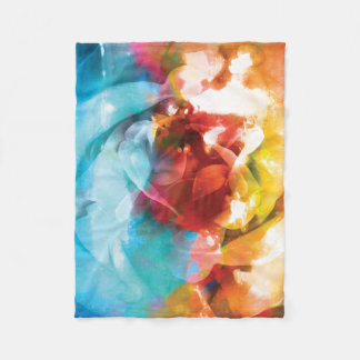 Floral Abstracts 3 Fleece Blanket