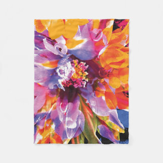 Floral Abstracts 4 Fleece Blanket