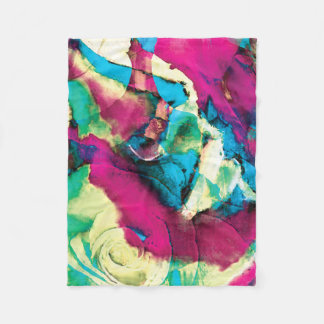 Floral Abstracts 5 Fleece Blanket
