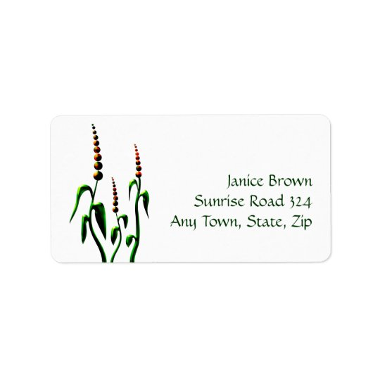 Floral Address Label