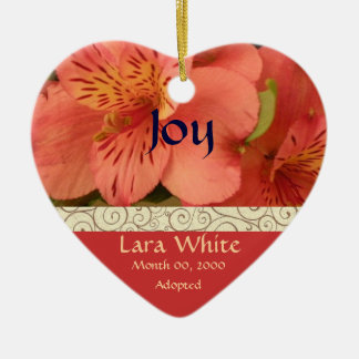 Floral Adoption Announcement Keepsake Christmas Ornament