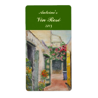 Floral Alley Wine Label Shipping Label