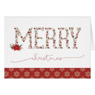 Floral Alphabet Christmas Card