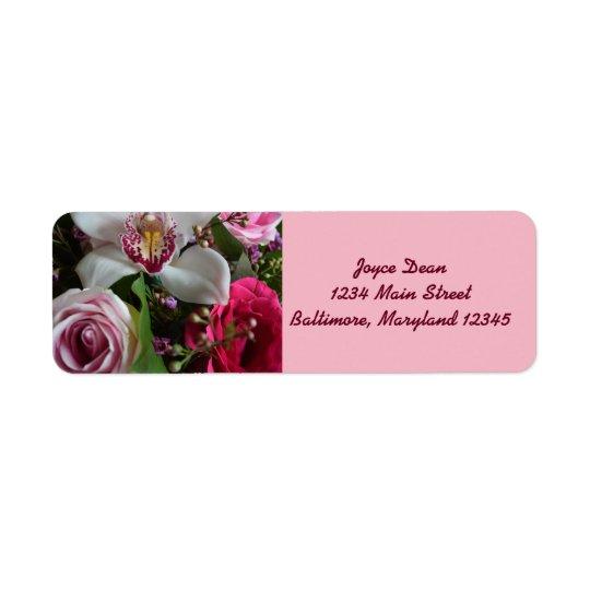 Floral and Pink Return Address Labels
