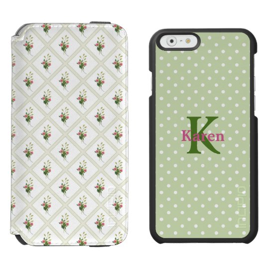 Floral and Polka Dot iPhone 6S Wallet Case