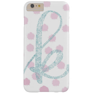 Floral and polka dot monogram iPhone case
