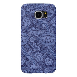Floral and Ribbon in Blue Samsung Galaxy S6 Cases