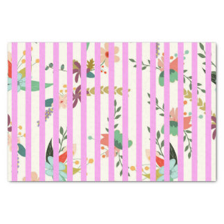Floral and Stripe Tissue Paper
